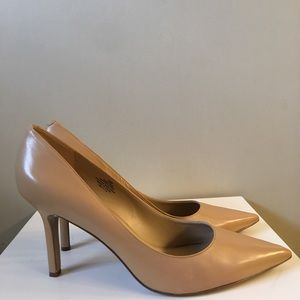 "Shoes - Nine West Tan leather heels new 12 ""martina"""